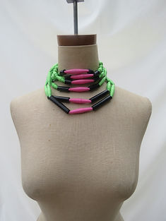 Paper Bead Statement Choker