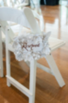 Handmade reserved sign