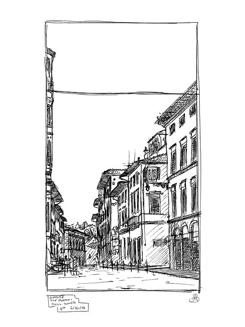 Single Print -View Behind the Duomo