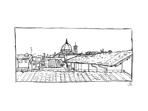 Single Print - View From Innocenti