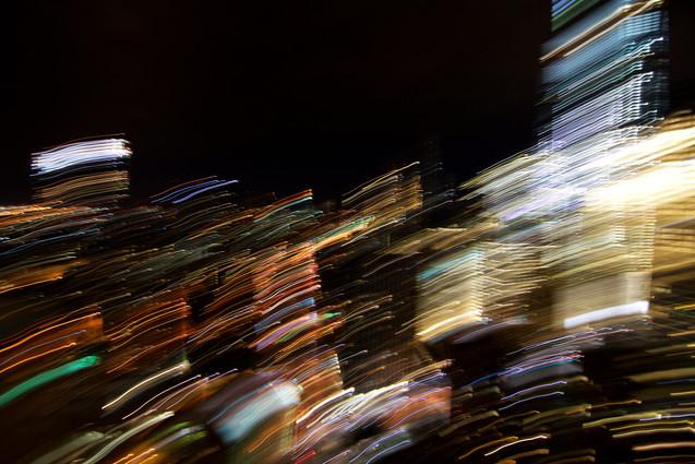 city slipping away