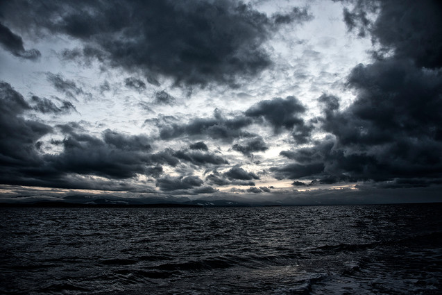 clouds over the sound