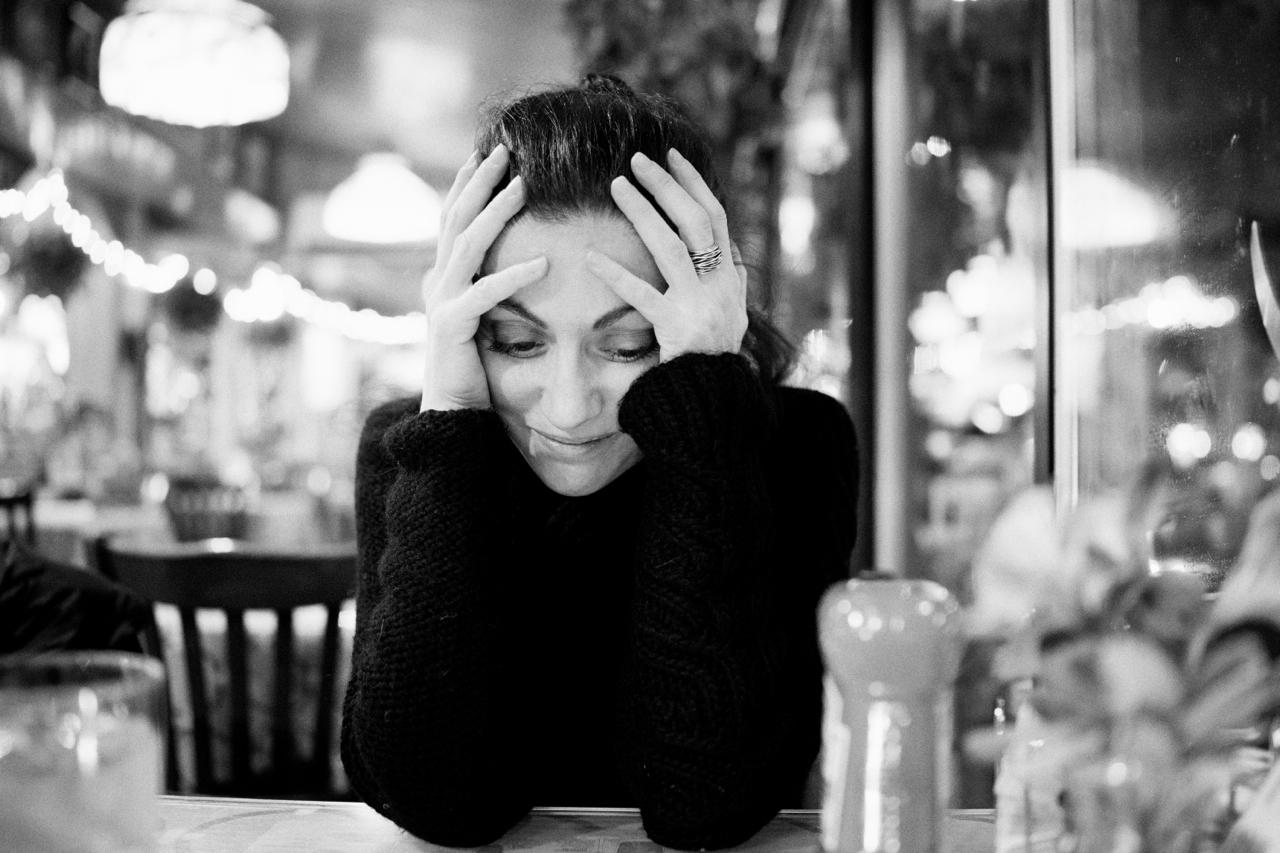 Gaia at a diner