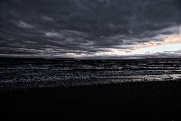 dark skyes over the sound