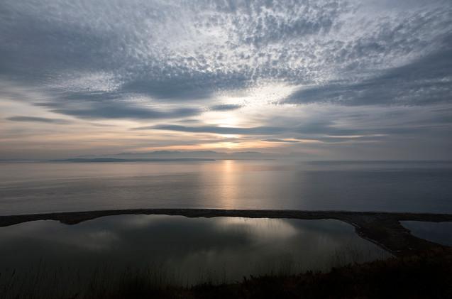 ebey's landing sunset