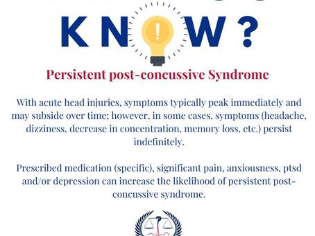 Persistent Post-Concussive Syndrome
