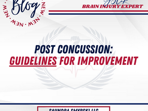 Post Concussion Guidelines For Improvement