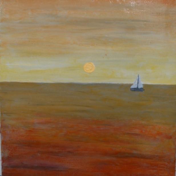 Orange glazed ocean