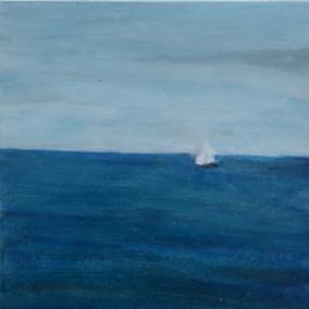 Blue glazed ocean