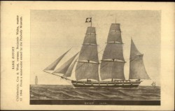 postcard of Zotoff, sailing bark owned by Capt. Wallis