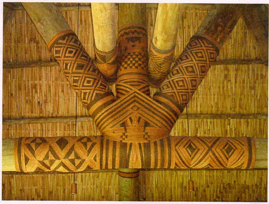 intricate polychrome sinnet bindings