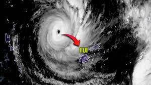 satellite image of Cyclone Yasa over Fiji