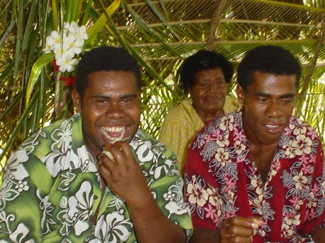 Fiji village Chistmas feast