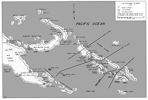 map of ww2 South Pacific