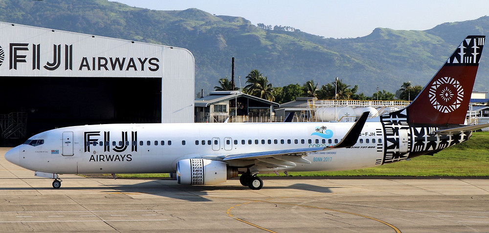 Fiji Aiways Boeing grounded at Nadi International airport