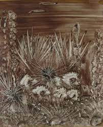 sea urchins  in underwater paintin by Semisi Maya of Fiji