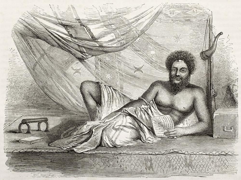 Ratu Cakobau, Fiji Chief 1858 engraving