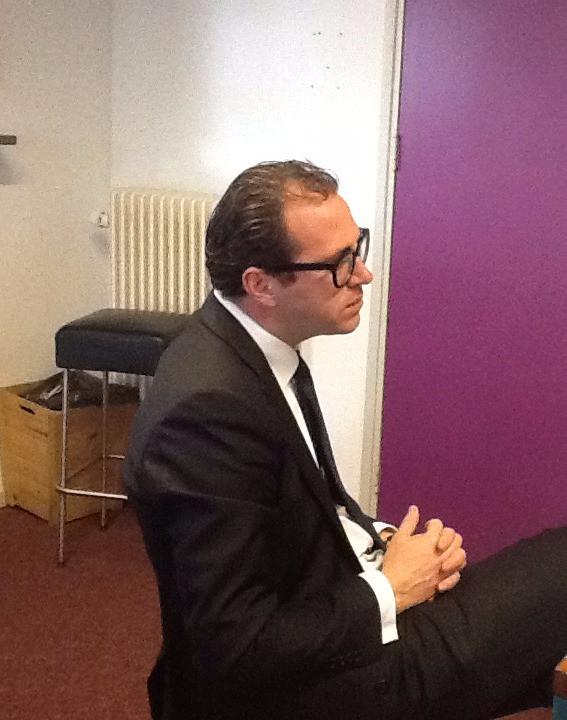 Minister Yrausquin van Aruba op bezoek in 's-Hertogenbosch