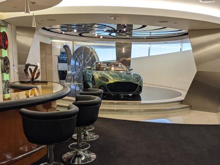 The VIP room at Galpin Aston Martin
