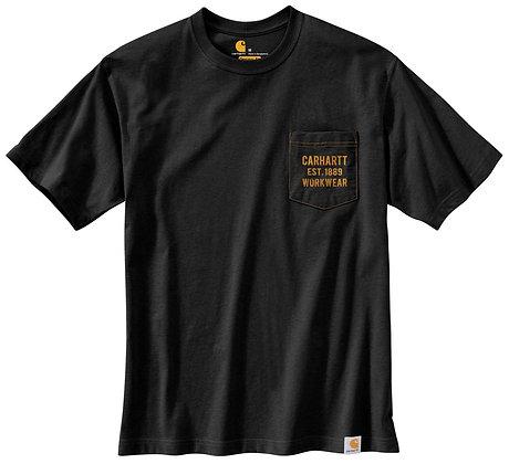 Carhartt Workwear 104363 Graphic Pocket T-Shirt in schwarz