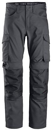 Snickers Workwear 6801 Service Arbeitshose mit Kniepolsteraschen in dunkelgrau grau