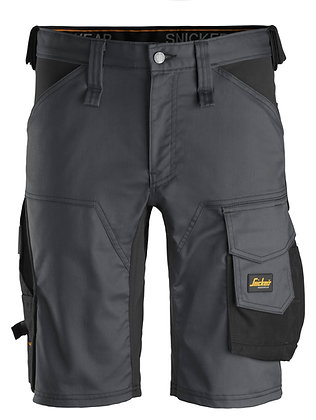 Snickers Workwear 6143 AllroundWork Stretch Shorts in grau