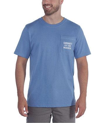 Carhartt Workwear 104363 Graphic Pocket T-Shirt in french blue blau