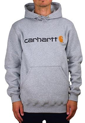 Carhartt Workwear 100074 Signature Logo Hoodie in grau