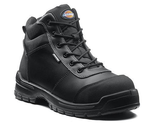 Dickies S3 Andover Sicherheitsstiefel Arbeitsstiefel in schwarz aus Leder