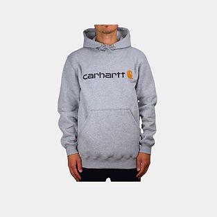 Carhartt Signature Logo Hoodie in grau