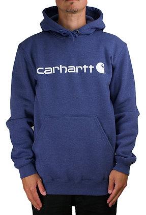 Carhartt Workwear 100074 Signature Logo Hoodie dusk blue blau