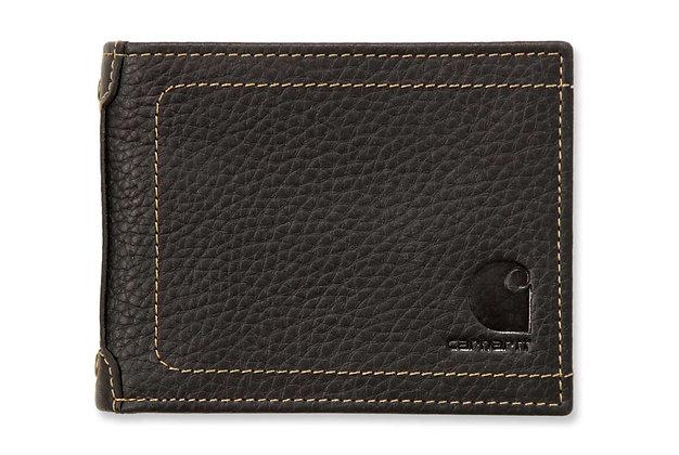Carhartt Workwear 61-2320 Pebble Zip Bifold Geldbeutel in schwarz aus Leder