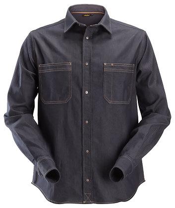 Snickers Workwear 8555 AllroundWork Denim Arbeitshemd Jeanshemd in dunkelblau