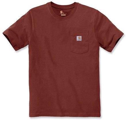 Carhartt Workwear 103296 K87 Workwear Pocket T-Shirt in dark barn red heather rot