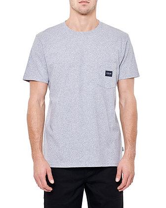 De Palma Workwear Logo Pocket T-Shirt in grau.