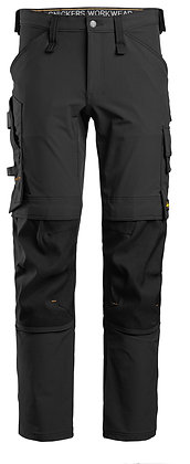 Snickers Workwear 6371 Full Stretch Arbeitshose in schwarz