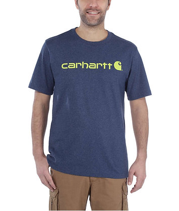 Carhartt Workwear 103361 Core Logo T-Shirt in dark cobalt blue heather blau