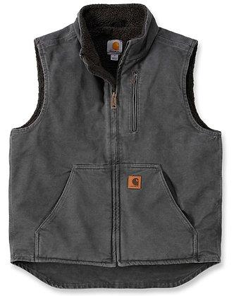 Carhartt Workwear V33 Mock Neck Vest Arbeitsweste mit Futter in grau
