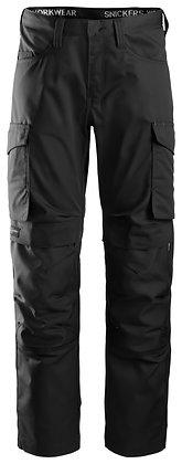 Snickers Workwear 6801 Service Arbeitshose mit Knee Guard in schwarz
