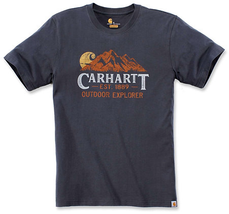 Carhartt Workwear 104183 Explorer Graphic T-Shirt in bluestone blau