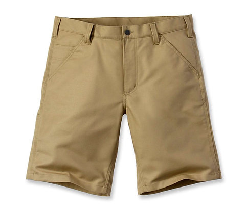 Carhartt Workwear 103111 Rugged Professional Stretch Canvas Shorts in khaki beige