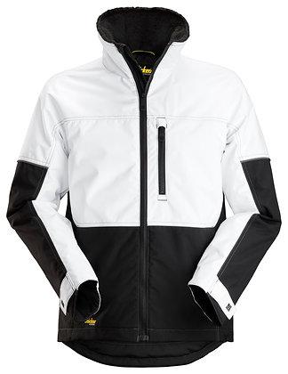 Snickers 1148 AllroundWork Winter Arbeitsjacke in der Farbe weiß schwarz