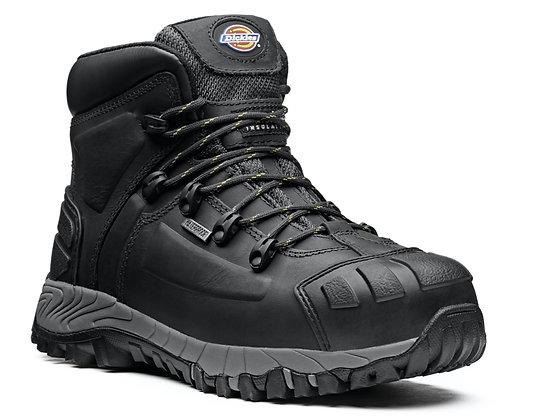 Dickies Workwear FD23310 Medway S3 Sicherheitsstiefel in schwarz