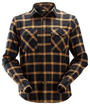 Snickers Workwear 8516 AllroundWork leichtes Baumwoll-Flanellhemd in schwarz braun