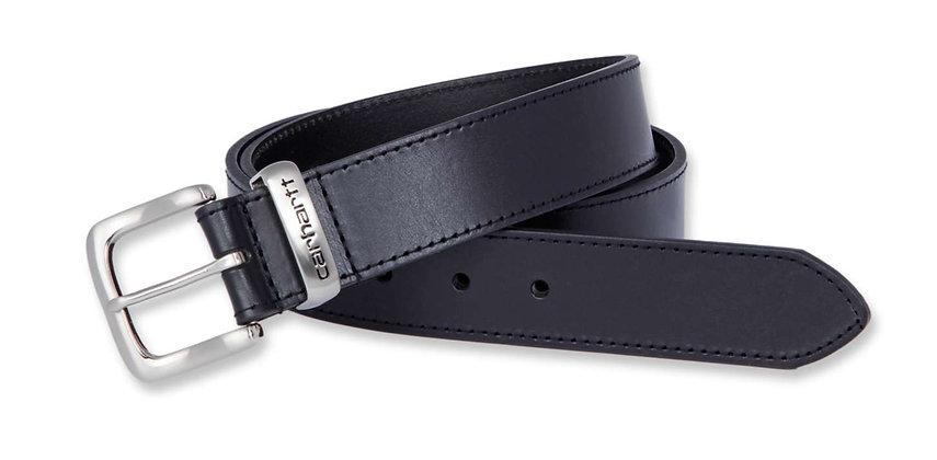 Carhartt 2200 Jean Belt Ledergürtel in schwarz