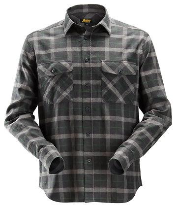 Snickers Workwear 8516 AllroundWork leichtes Baumwoll-Flanellhemd in charcoal dunkelgrau grün