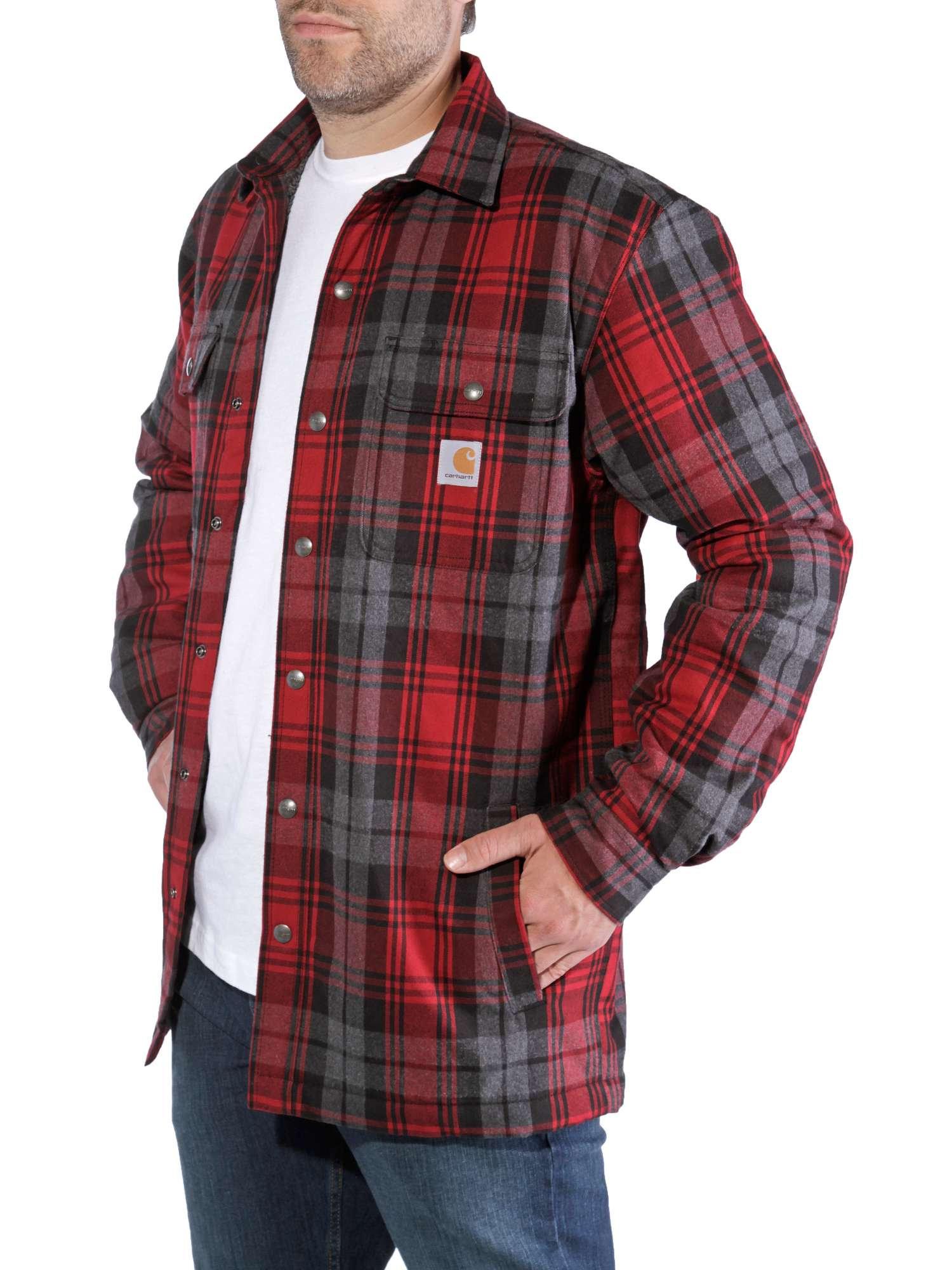 wspaniały wygląd klasyczne style różne wzornictwo Carhartt Hubbard Sherpa Lined Shirt Jacket