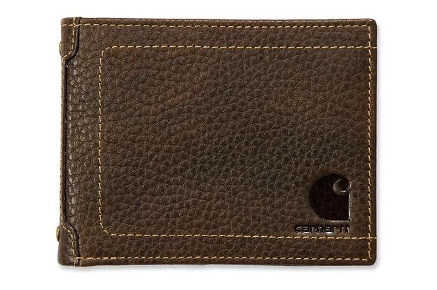 Carhartt Workwear 61-2320 Pebble Zip Bifold Geldbeutel in braun aus Leder