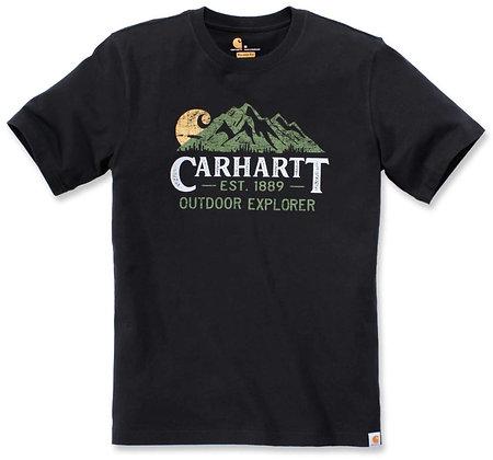 Carhartt Workwear 104183 Outdoor Explorer T-Shirt in schwarz