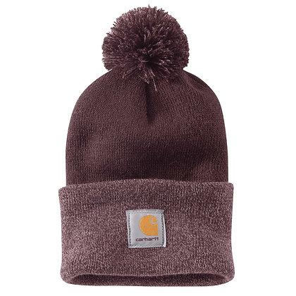 Carhartt Workwear Lookout Hat Wintermütze mit Bommel in dunkelrot